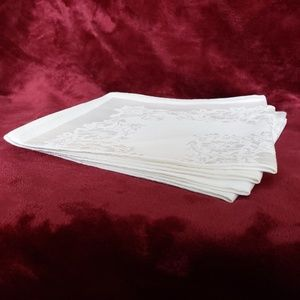 Other - NWT Set of 8 Fancy White Dinner Napkins